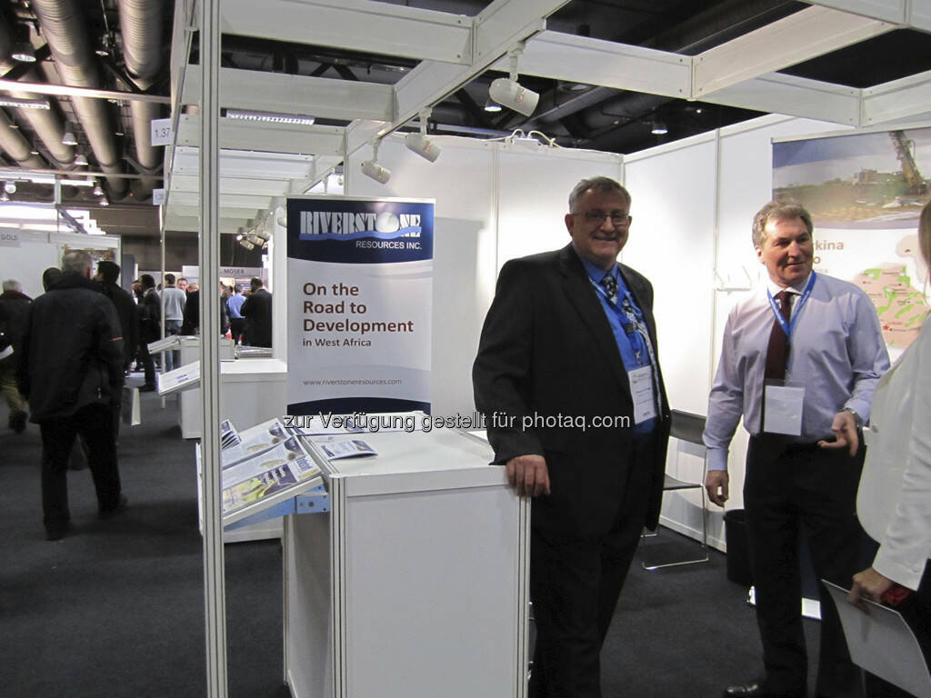 Dwayne L. Melrose und Don Mosher von Riverstone Resources, © IRW-Press (15.12.2012)