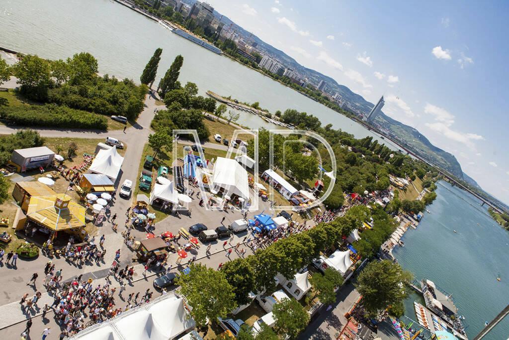 Donauinsel von oben, © www.martina-draper.at (08.07.2013)