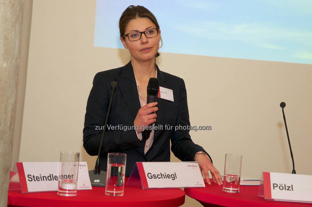 Kora C. Krause (CDP), © Wiener Börse, Claus Beischlager (15.12.2012)