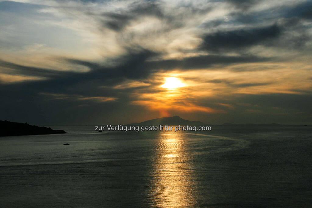 Capri im Sonnenuntergang, © Gabriele Hartweger (15.07.2013)
