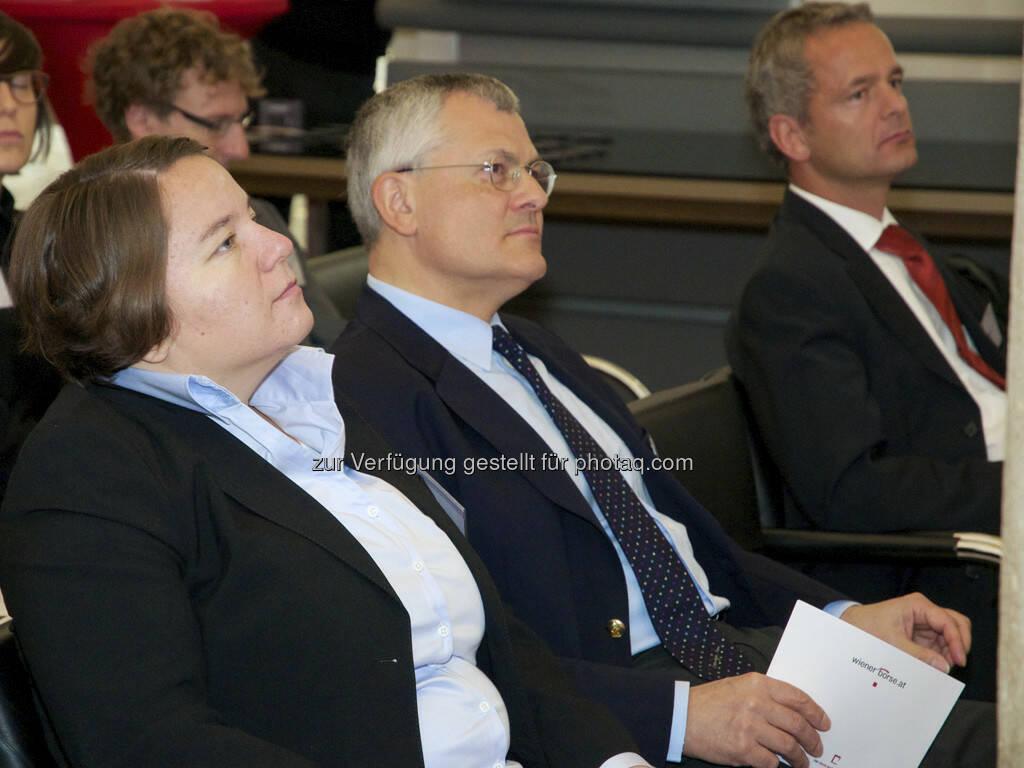 Susan Dreyer (CDP), Michael Buhl (Wiener Börse), © Wiener Börse, Claus Beischlager (15.12.2012)
