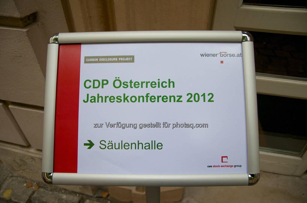 CDP Österreich Jahreskonferenz 2012, © Wiener Börse, Claus Beischlager (15.12.2012)
