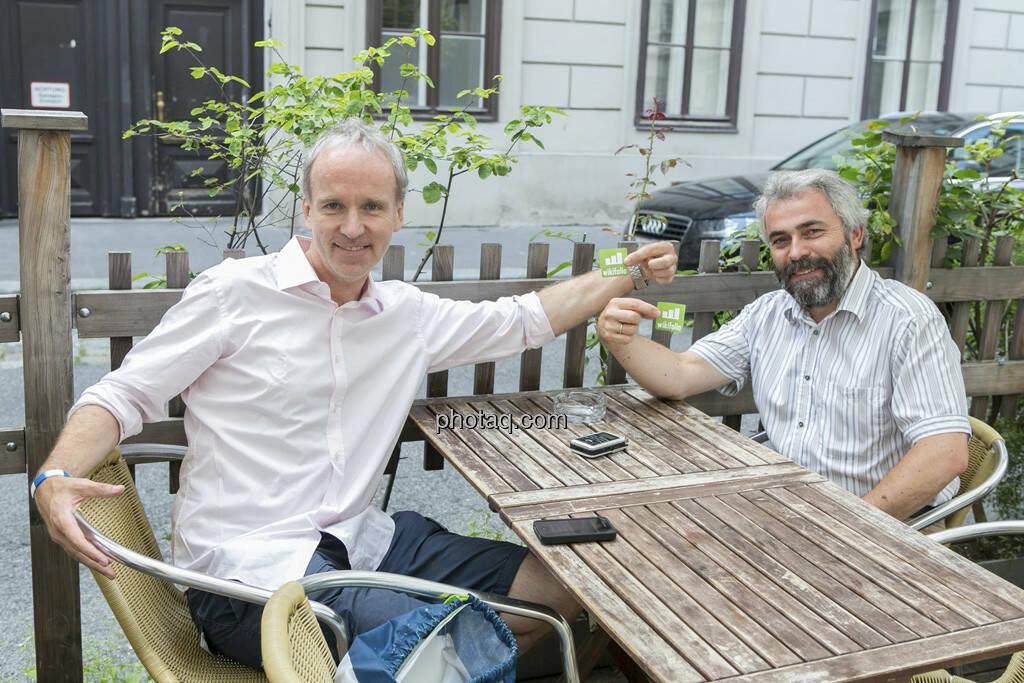 Christian Drastil, Thomas Irmler, wikifolio-Pickerl, © finanzmarktfoto.at/Martina Draper (25.07.2013)