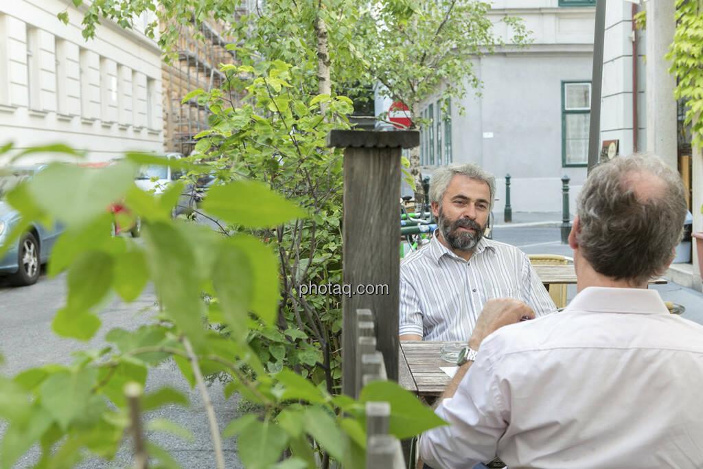 Thomas Irmler, Christian Drastil, © finanzmarktfoto.at/Martina Draper (25.07.2013)