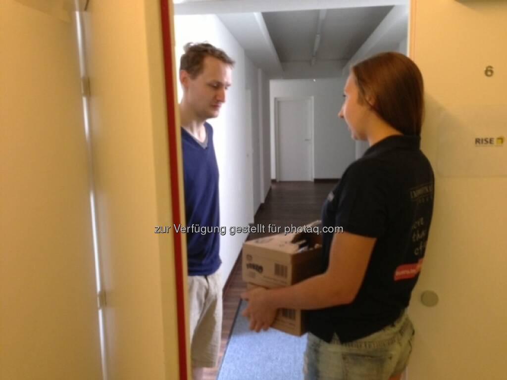 Immofinanz bringt Eis an die Office-Türe, © blog.immofinanz.com (31.07.2013)