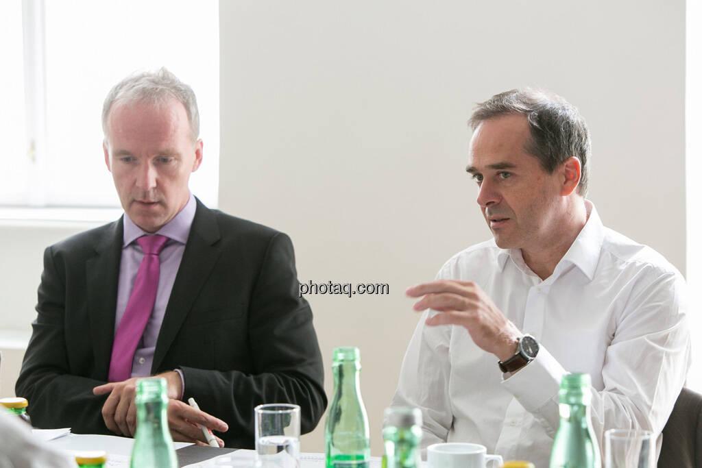 Christian Drastil, Wolfgang Matejka (Matejka & Partner), © finanzmarktfoto.at/Martina Draper (06.08.2013)