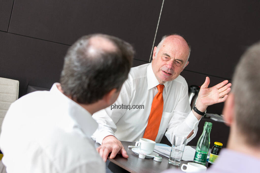 Wolfgang Matejka (Matejka & Partner), Wolfgang Nolz (Kapitalmarktbeauftragter, BMF), Christian Drastil, © finanzmarktfoto.at/Martina Draper (06.08.2013)