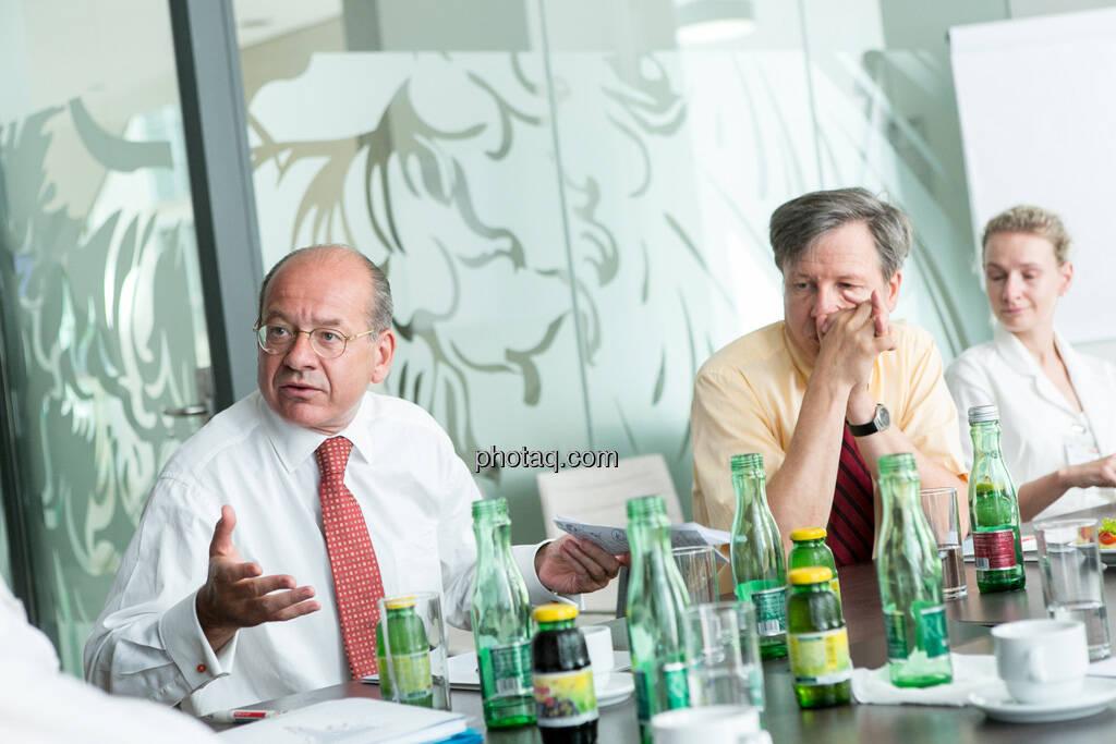 Michael Spiss (RCB), Heinrich Traumüller (Büro des Kapitalmarktbeauftragten, BMF), Andrea Pelinka-Kinz (RCB), © finanzmarktfoto.at/Martina Draper (06.08.2013)