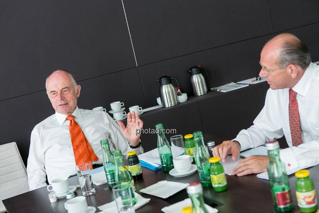 Wolfgang Nolz (Kapitalmarktbeauftragter, BMF), Michael Spiss (RCB), © finanzmarktfoto.at/Martina Draper (06.08.2013)