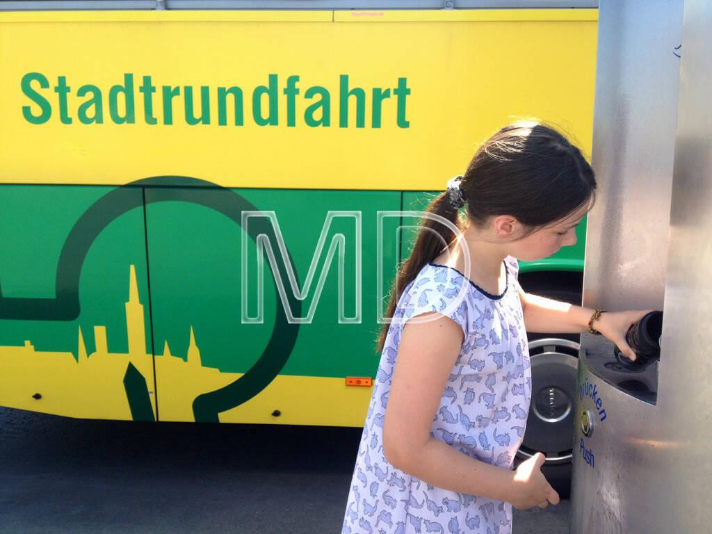 Wasserspender, Stadtrundfahrt, © www.martina-draper.at (11.08.2013)