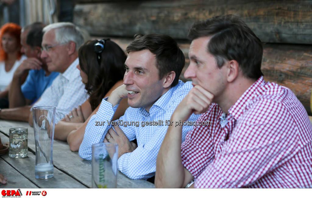 Sebastian Haboeck (Citroen) und Juergen Gruber (Drei). Foto: GEPA pictures/ Markus Oberlaender (13.08.2013)