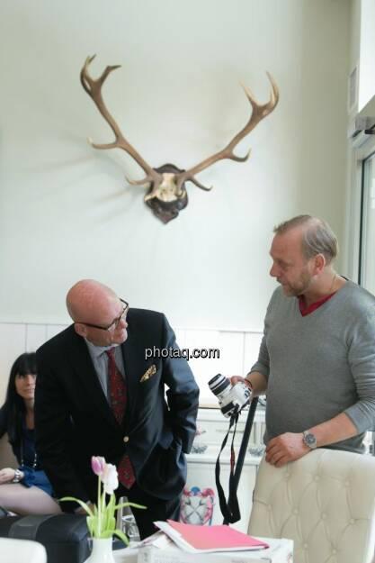 Hugh D. Clarke (Vice President Endeavour Silver), Heinz Karasek (Das Heinz), © Martina Draper (15.12.2012)