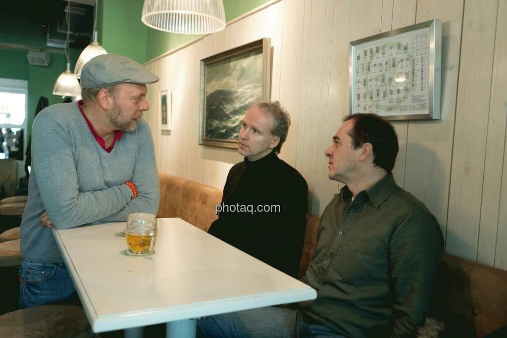 Heinz Karasek (Das Heinz), Christian Drastil (Christian Drastil Communications), Wolfgang Matejka (Matejka & Partner), © Martina Draper (15.12.2012)