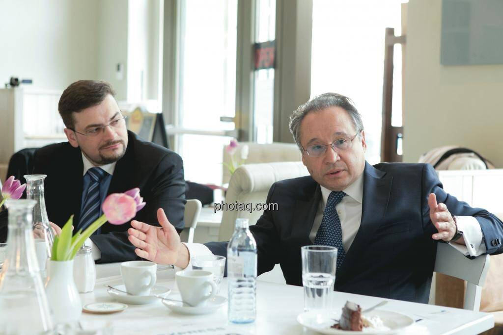 Richard H. Mayr (CEO Argentuminvest), Lenic M. Rodriguez (CEO Aurcana), © Martina Draper (15.12.2012)