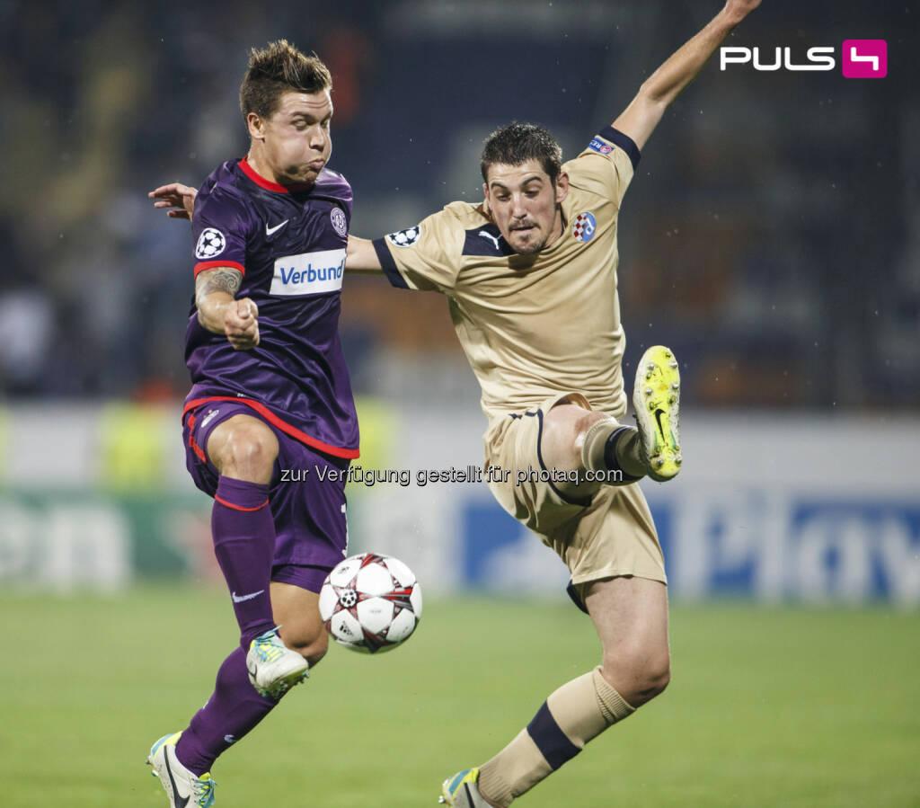 Puls4 begleitet Austria Wien in die UEFA Champions League Gruppenphase - bis zu 751.500 ZuseherInnen verfolgten den Aufstieg live auf Puls4  (c) Bildsymphonie/Christian Hofer (28.08.2013)
