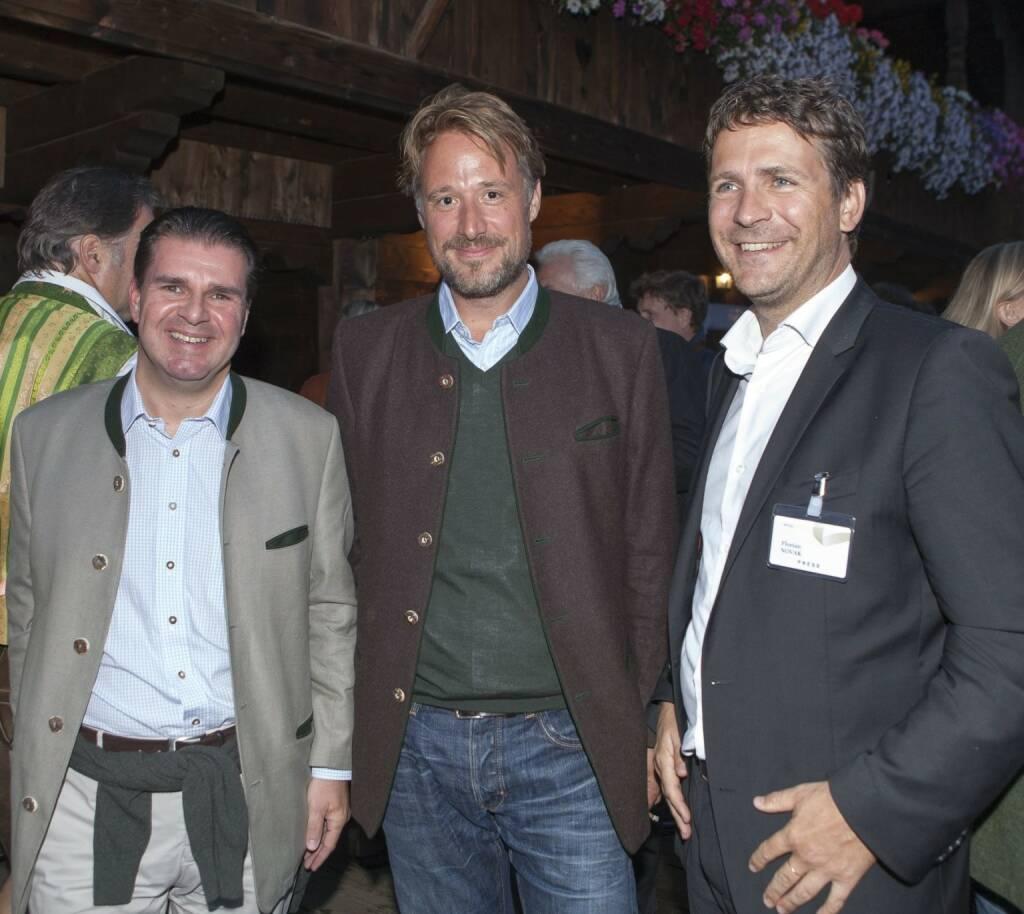 Gerald Grünberger (VÖZ), Sebastian Loudon (Horizont), Florian Novak (Lounge-FM), © leisure.at/Roland Mühlanger (29.08.2013)