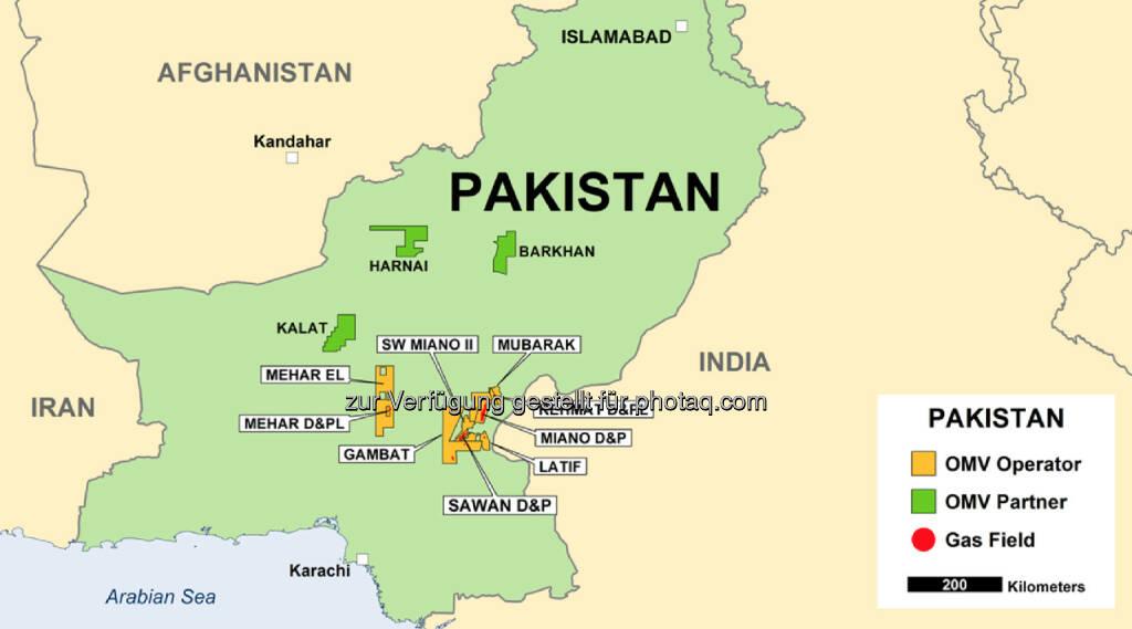 Grafik: OMV Fund von Erdgas und Kondensat im Mehar-Block, Pakistan (c) OMV (29.08.2013)