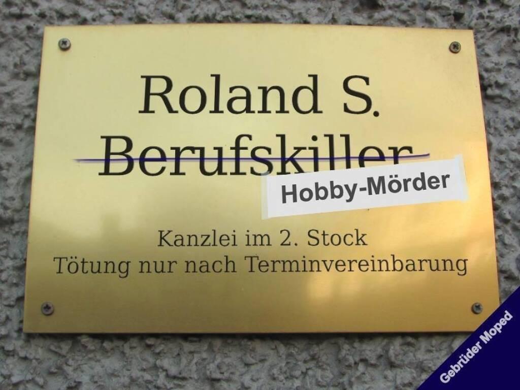 Hobby-Mörder statt Berufskiller (c) Gebrüder Moped (06.09.2013)