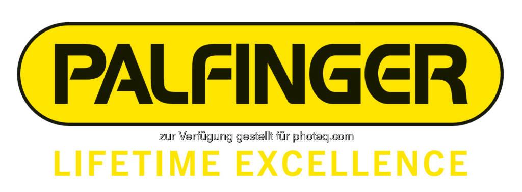 Das neue Palfinger-Logo mit Lifetime Excellence fällt in den Bereich gute Grafiken (15.12.2012)