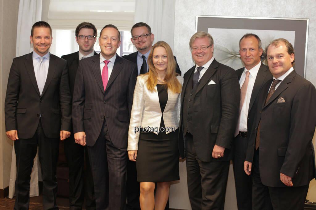 ua Thomas Lehr, Mike Judith, Gerhard Mittelbach, Karola Gröger, Philipp Baar-Baarenfels, © finanzmarktfoto.at/Michaela Mejta (12.09.2013)