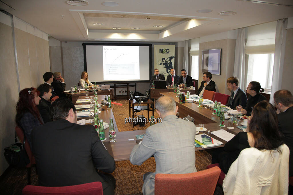 Österreichisches Fondsforum, Karola Gröger, Philipp Baar-Baarenfels, Gerhard Mittelbach, Mike Judith, Thomas Lehr, © finanzmarktfoto.at/Michaela Mejta (12.09.2013)