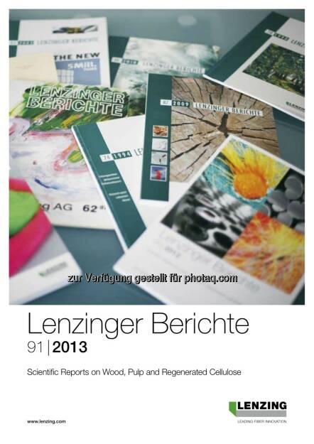 """60 Jahre Lenzinger Berichte – ein Aushängeschild der Lenzinger Innovation feiert Geburtstag. Die Lenzinger Berichte sind die weltweit einzige Firmenpublikation, die in den """"Chemical Abstracts"""" (dem weltweit wichtigsten Auswertungsdienst für Originalquellen der Chemieliteratur) gelistet ist (c) Lenzing (18.09.2013)"""